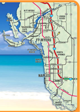 Southwest Florida Map With Cities.Map Of Map Of Southwest Florida World Map Database