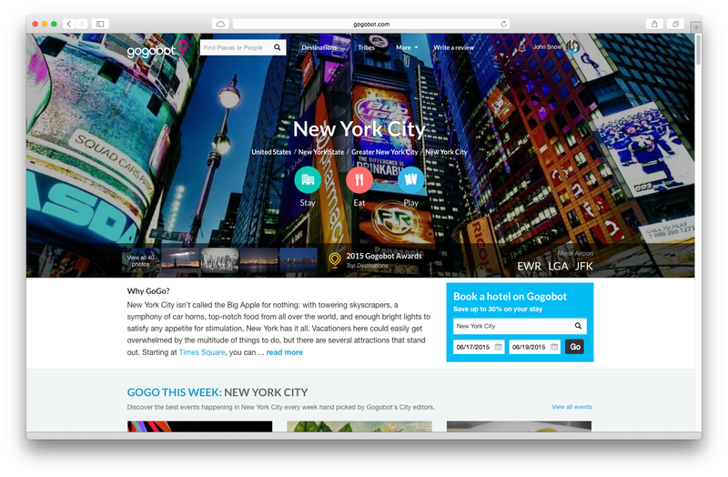 NYC destination page
