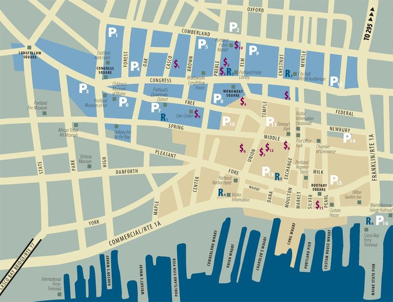 Portland-Maine-Tourist-Map