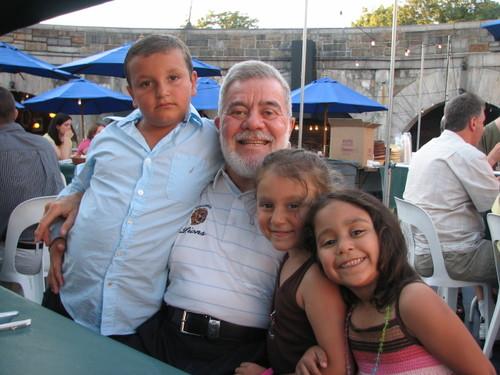 Ron & His Grand Nieces & Nephew