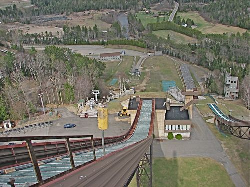 Olympic Ski Jump- View from top