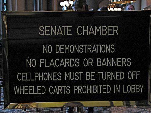 Entrance to Senate Chambers