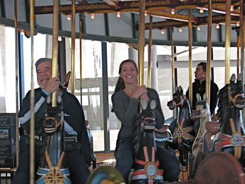 Ron & Liz on Carousel at NY State Museum