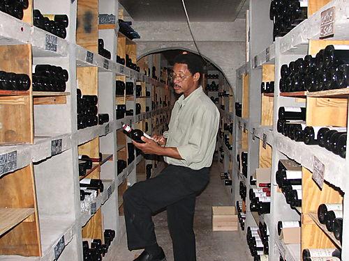 Albert Lake- Sommelier- Malliouhana Wine Cellar