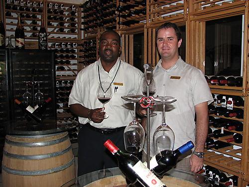 Garmon Greenway- Sommelier & James Denis- F&B Director- CuisinArt Wine Cellar