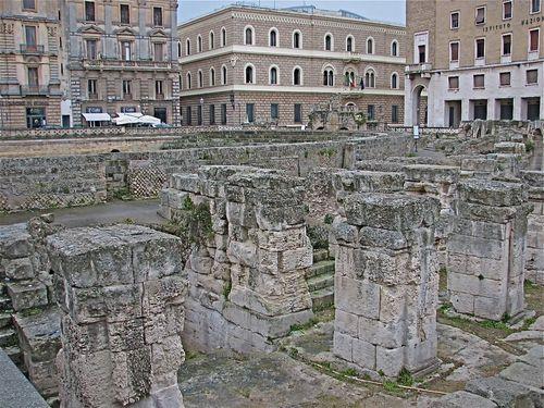 Lecce Duomo Square Ruins