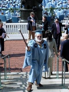 Ron at Columbia Graduation