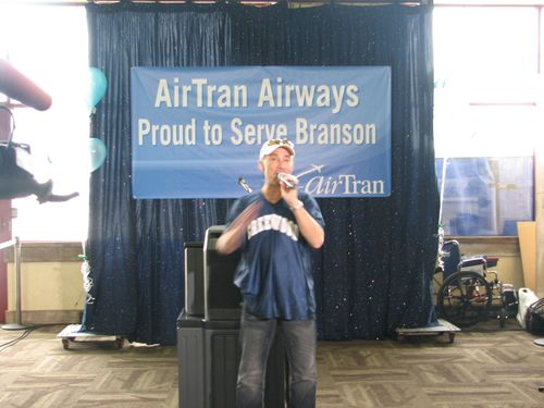 Lee Greenwood at Air Tran Opening