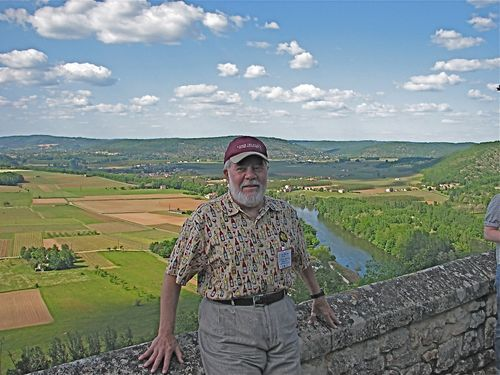 Ron Overlooking the Vineyards & Lot River