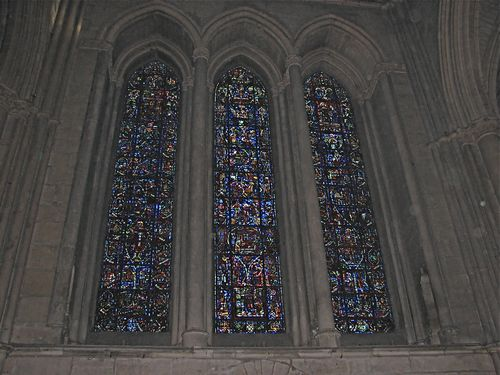 Champagne Stain Glass- Cathedral