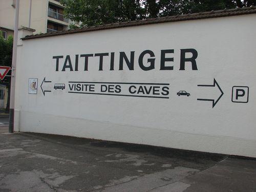 Entrance Taittinger in Rheims