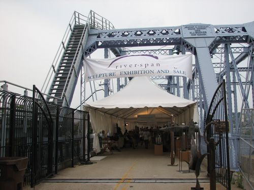 Purple People Bridge & Riverspan Sculpture Exhibit