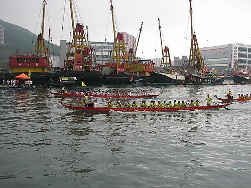 Dragon Boat Finish