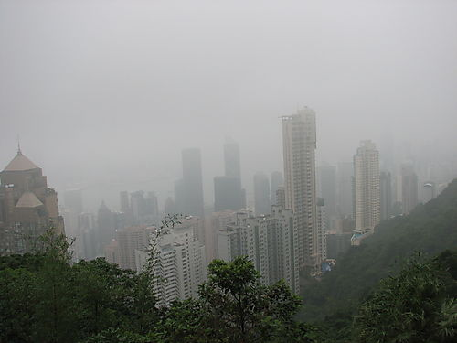 View of HK From Top of Tram
