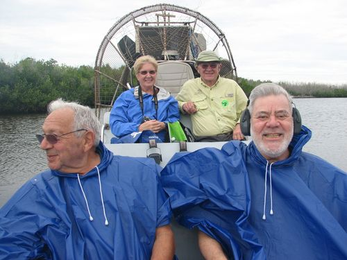 Marvin & Ron on Air Boat- Everglades