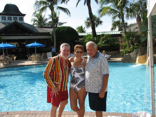 Ron, Peg & Marvin at Club