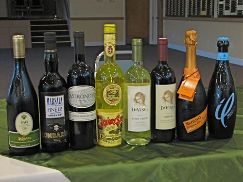 Wines for Temple Dinner