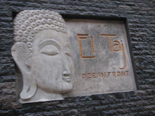 Entrance to El Taj Oceanfront Hotel