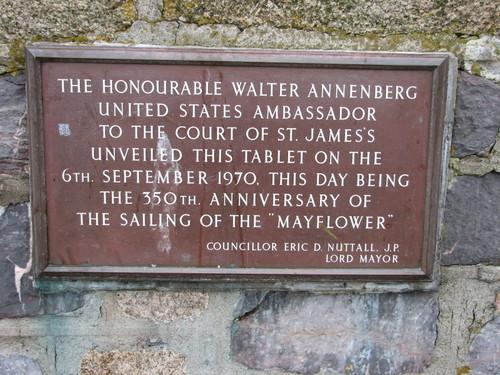 Mayflower Plaque