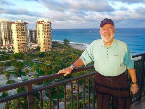 Ron on balcony Marriott Singer Island Resort